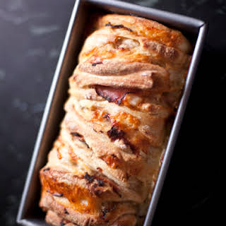 Ham and Cheese Pull-Apart Bread with Gold Medal Flour.