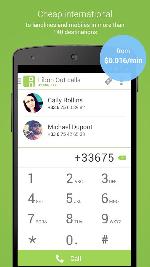 Libon - International calls- screenshot