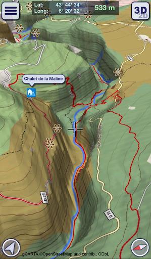 GeoFlyer Europe 3D - Offline Maps GPS Routing 2.2.1 screenshots 2