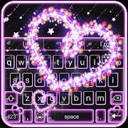 Sparkling Heart Neon Keyboard Theme