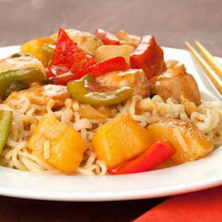 Polynesian Pineapple Chicken and Peppers.