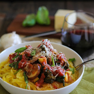 Spaghetti Squash Marinara Vegetables Recipes