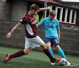 Photo: Stenhousemuir fc v Dunfermline fc, Scottish League 1, Ochilview , 24-08-13Ross Smith and Jordan Moore(c) David Wardle