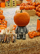 Photo: On the way out we spotted this little pumpkin stand in the garden section. How cute is he?