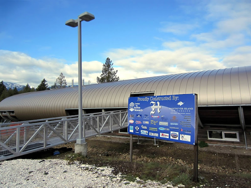 Photo: The new building of the Deep Bay Marine Field Station at Deep Bay, BC, Canada, opened in June 2011.
