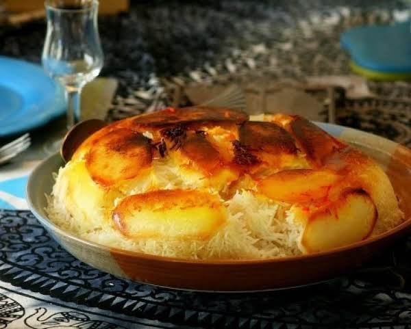 Polo Ba Tahdig (persian Rice With Potato Crust) Recipe