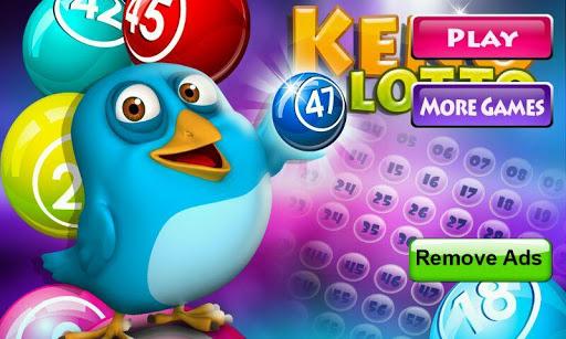 Keno Jackpot Lottery Cards