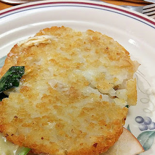 Latke Panini with Apple, Spinach, Sage and Brie