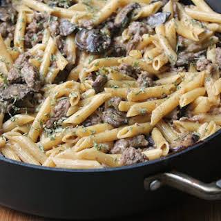One Pot Beef Stroganoff Pasta.