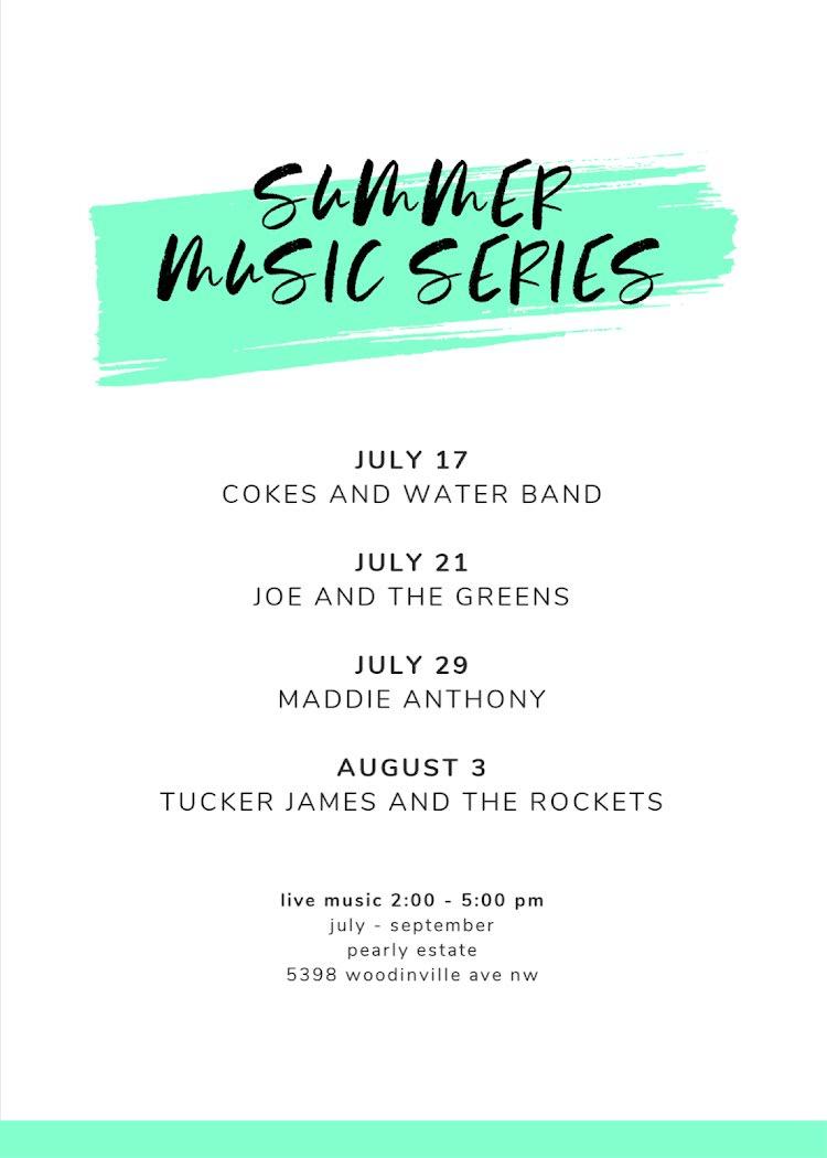Summer Music Series - Card Template