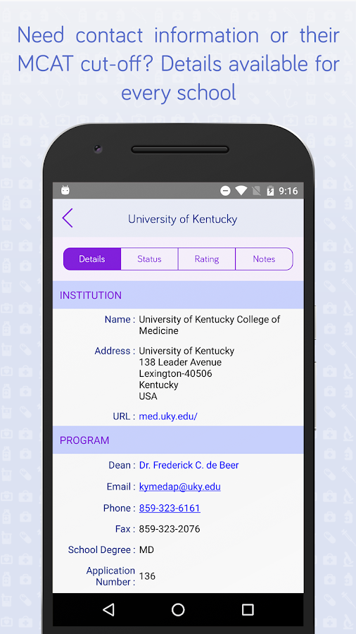 Medical School App Tracker- screenshot