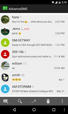 Advance SMS - screenshot
