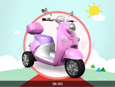 xe máy điện cho bé gái QK-303