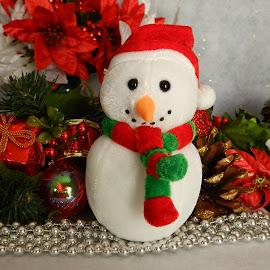 Christmas Snowman by Karen Carter Goforth - Public Holidays Christmas ( decoration, christmas, snowman,  )