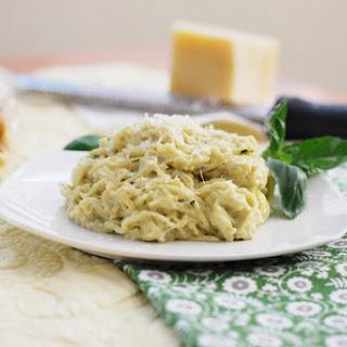 Spaghetti Squash with Basil Cashew Cream.