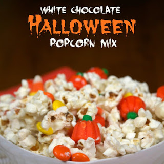 White Chocolate Halloween Popcorn Mix