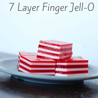 Valentine 7 Layer Finger Jell-O