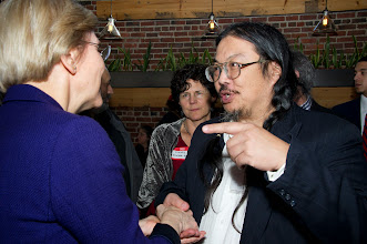 Photo: Senator Warren and Tim Lee