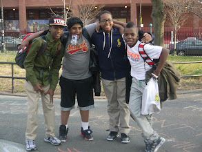 Photo: Brooklyn Movement Center outreach event. NY. 4.8.13  Middle school boys who supported the efforts