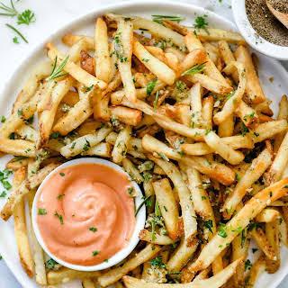 Killer Garlic Fries with Rosemary.