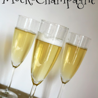 Mock-Champagne for New Year's Eve