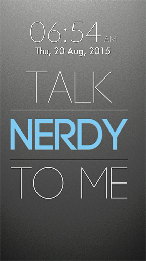 Nerd Geek Keypad Lock Screen