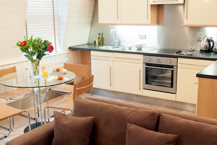Fully equipped kitchen at Artillery Lane Apartments Bishopsgate
