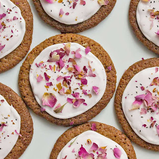 Crisp and Chewy Cardamom-Rose Gingersnaps.