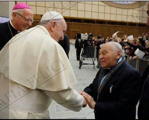Resultado de imagem para Fotos do teologo Gustavo Gutiérrez com o Papa Francisco
