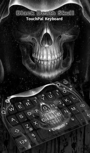 Black Death Skull Keyboard Theme 6.4.27.2019 screenshots 1