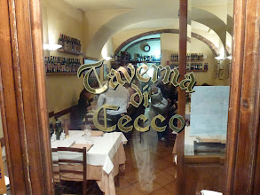 Photo: We had our best dinner in the Siena restaurant, Taverna di Cecco