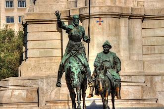 Photo: Monument to Cervantes in Madrid.  http://tinyurl.com/lvqezou