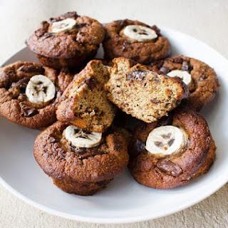 Easy Blender Banana & Dark Chocolate Muffins.