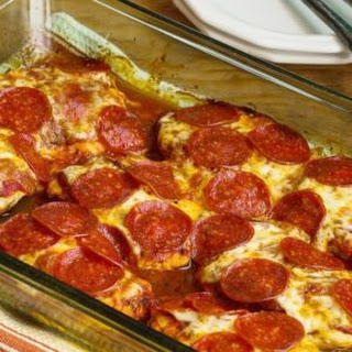 Low-Carb Pepperoni Pizza Chicken Bake Recipe
