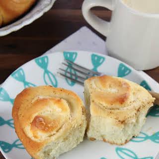 Cream Cheese Filled Brioche Sweet Rolls.