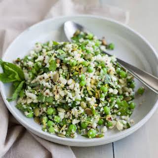 Quinoa Cauliflower Tabbouleh Salad.