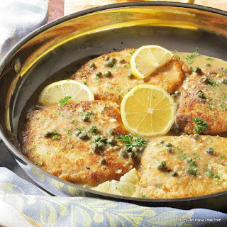 Low Carb Pork Piccata.
