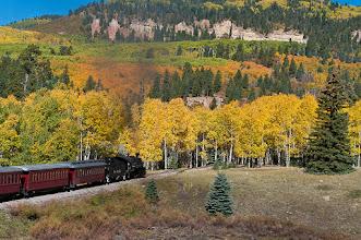 Photo: Trains heads into aspens