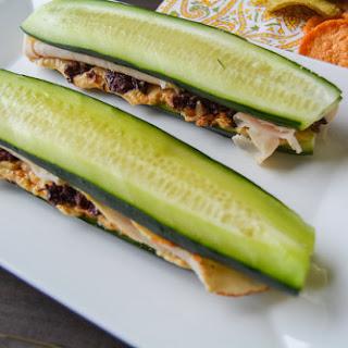 Mediterranean Turkey Cucumber Sandwiches.