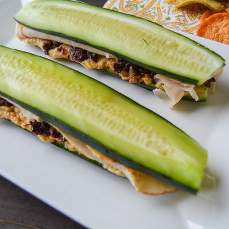 Mediterranean Turkey Cucumber Sandwiches