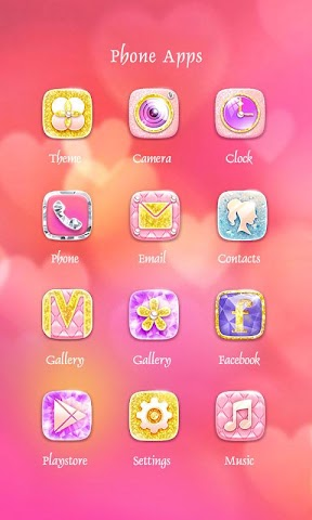 android glitter Theme - ZERO Launcher Screenshot 2