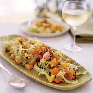 Roasted Root-Vegetable Salad with Persimmons.