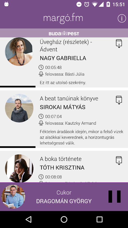 Margó.fm- screenshot