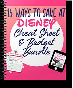 15 Ways to Save at Disney World Budget Sheets