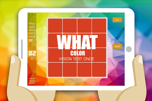 What color vision test once