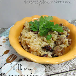 EASY Dirty Rice in the Slow Cooker!.