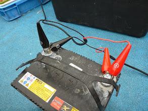 Photo: 持参してきたバッテリーが切れて、ダブルで使用中。