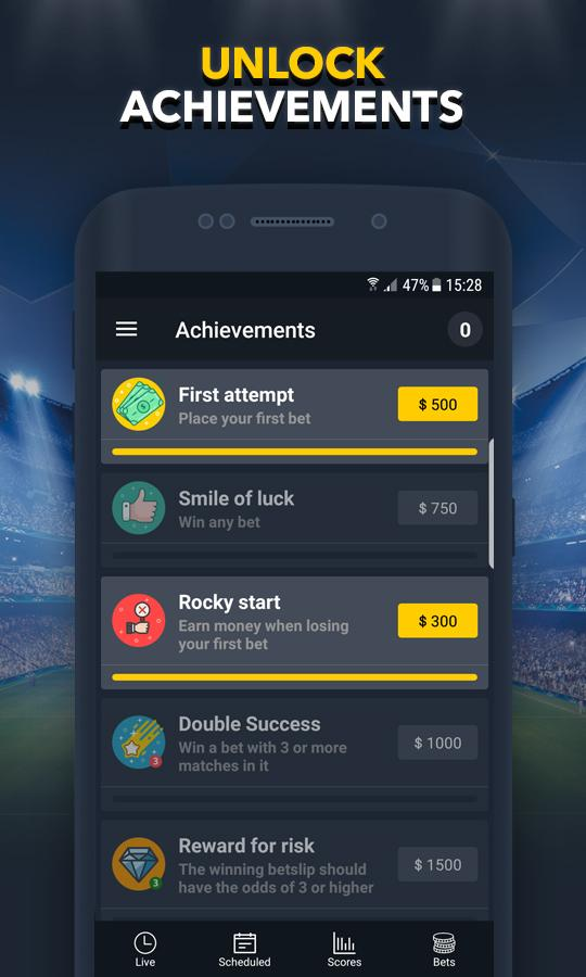 BETUP - Sports Betting Game & Live Scores Android 5