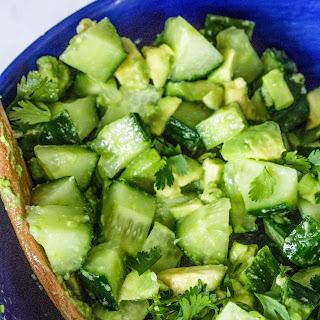 Avocado Cucumber Salad.