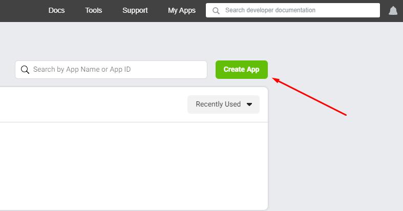 create app for Instagram access token